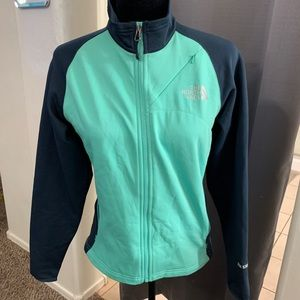 The North Face Seafoam Green and Blue Jacket